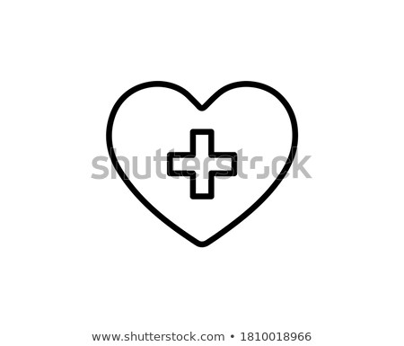 Glossy Cardiogram Glass Red Heart Stock photo © gubh83