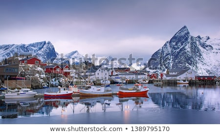 Norwegian fishing port Stock photo © Harlekino