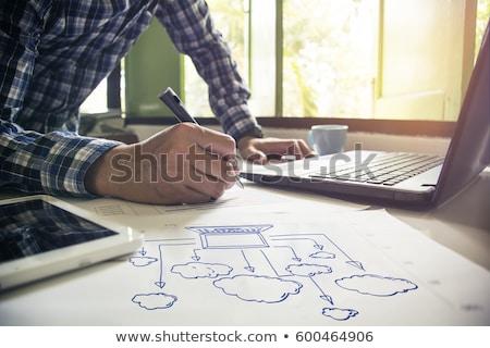 Foto stock: Proteger · papel · internet · tecnologia · segurança