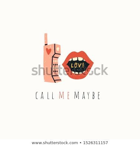 vrouw · telefoon · oproep · hand · telefoon - stockfoto © steevy84