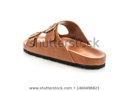 Skóry buty odizolowany biały moda czasu Zdjęcia stock © JohnKasawa