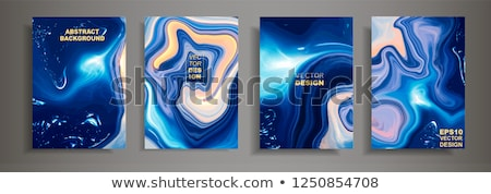 abstract flayer with colorful wave Stock photo © rioillustrator