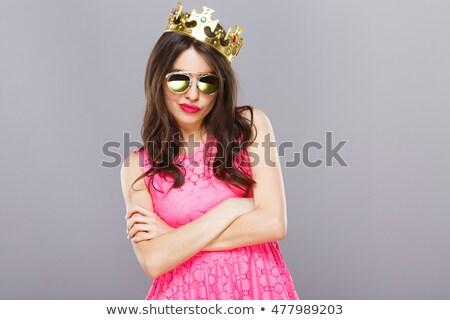 少女 態度 かなり 小さな ブロンド 立って ストックフォト © rhamm