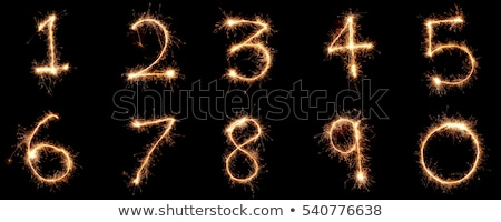 verjaardag · nummers · sterretje · business · zwarte · goud - stockfoto © Paha_L