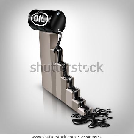 Queda Óleo preços combustível grupo aço Foto stock © Lightsource