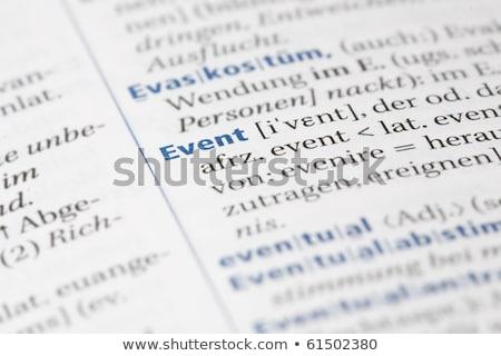 Dictionnaire école mise au point sélective définition mot informations Photo stock © iofoto