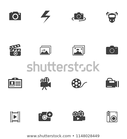 Compact digitale foto camera onderdelen houten Stockfoto © grafvision