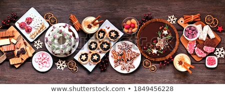 Noël · pain · d'épice · cookies · vin · boire · balle - photo stock © mkucova