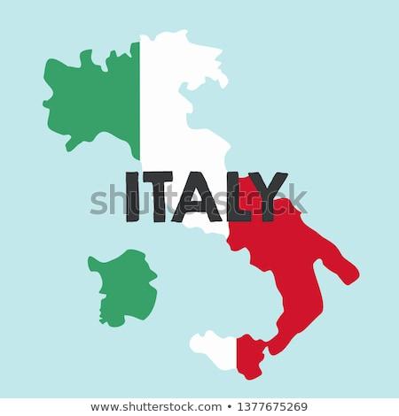 Green Italy map Stock photo © Volina