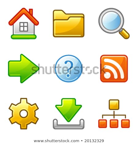 Basic web icons, alfa series Stock photo © SergeyT