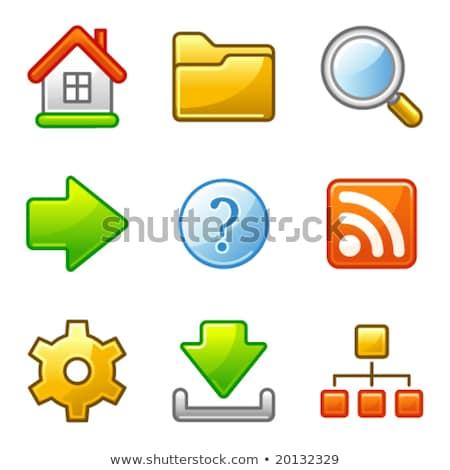 básico · iconos · de · la · web · vector · establecer · fácil · escala - foto stock © SergeyT