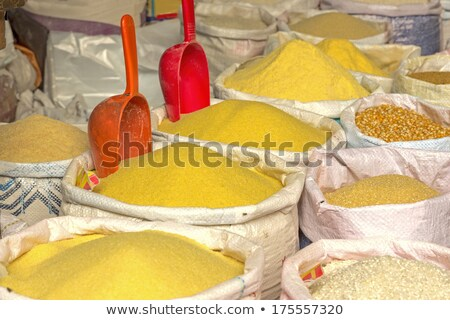 Stock photo: Basic foodstuff on a market in Morocco