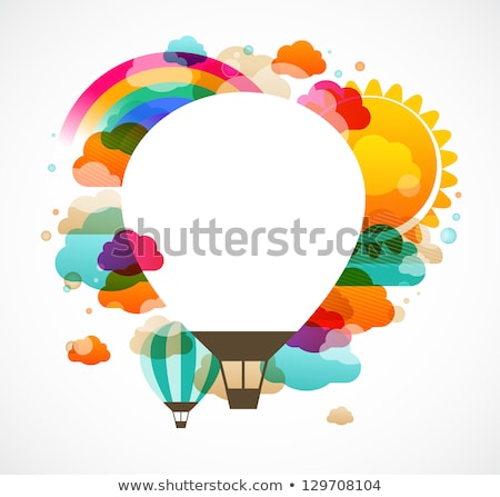 Abstract color background with hot air balloon Stock photo © Elmiko