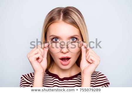 Elegant stylish blond woman in smart casuals Stock photo © dash