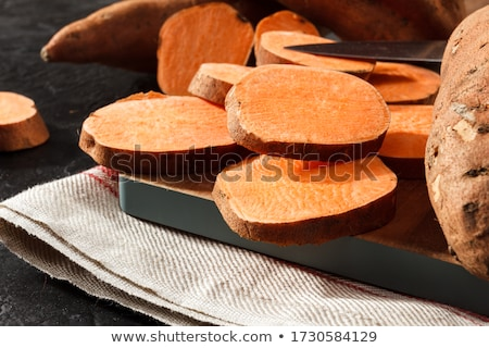 old rustic wooden kitchen board stock photo © zerbor