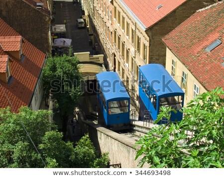 Foto stock: Zagreb · seguir · um · casa · edifício · laranja
