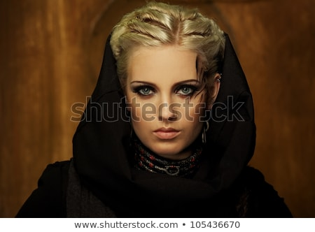 Blond girl in a bunker Stock photo © Nejron