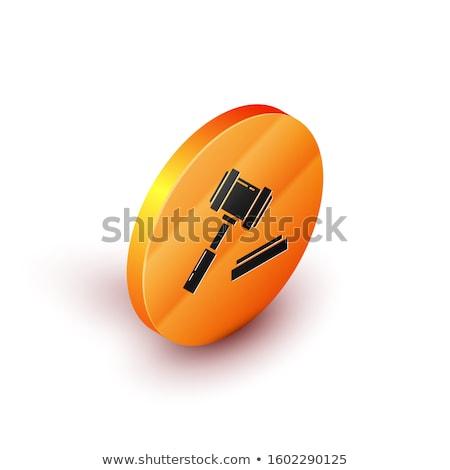 Législation orange design bouton longtemps ombres Photo stock © tashatuvango