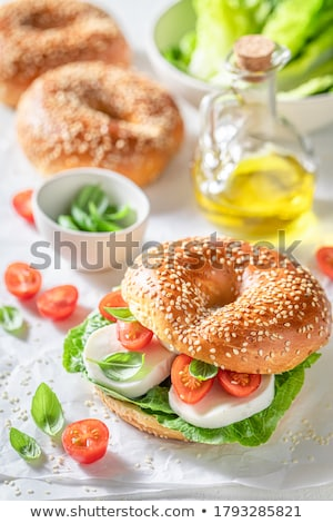 Delicioso café da manhã belo café toalha de mesa Foto stock © manera