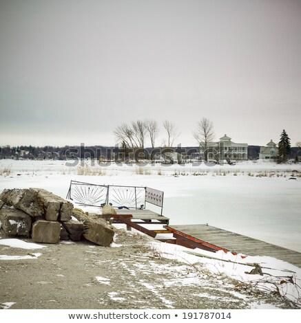 Hó Ontario Kanada természet árnyék turizmus Stock fotó © bmonteny