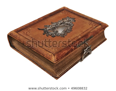 Old thick book with clasp Stock photo © orensila