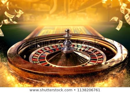 Rulett kaszinó illusztráció lány mosoly csillag Stock fotó © adrenalina