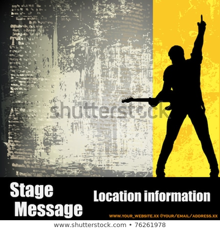 guitarist on grunge background Stock photo © isaxar