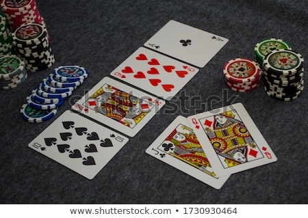 Chips and a royal street flush Stock photo © gemenacom