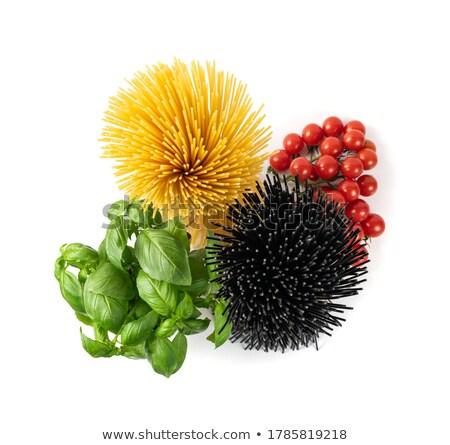 siyah · spagetti · beyaz · yaprak · sağlık - stok fotoğraf © homydesign