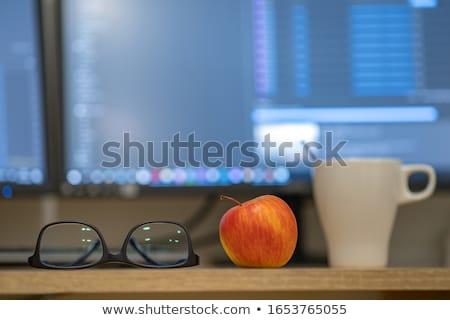 Pomme rouge personnelles organisateur Photo stock © devon