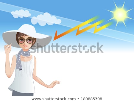 Sál nap elleni védelem kép autó ablak út Stock fotó © w20er
