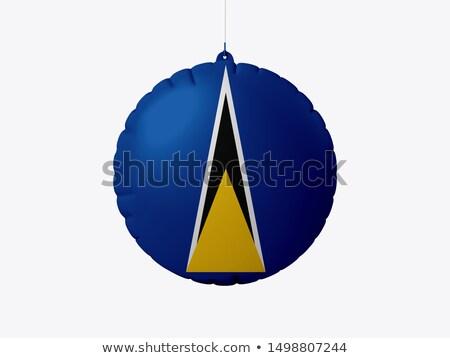 vliegen · ballonnen · vlag · geïsoleerd · witte - stockfoto © mikhailmishchenko