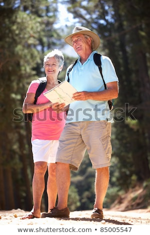 Portrait Of Couple On Hike In Countryside With Map Stock photo © HighwayStarz