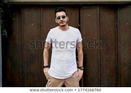 atrakcyjny · młodych · moda · człowiek · rękaw - zdjęcia stock © feedough