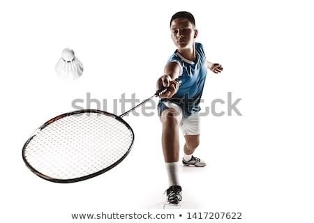Kicsi fiú játszik tollaslabda évek öreg Stock fotó © nyul