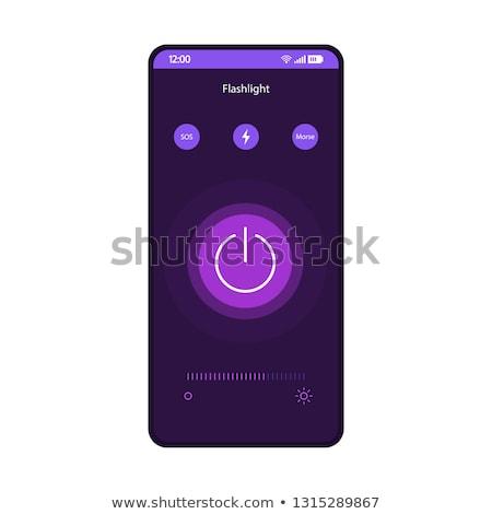 smart phone purple vector icon button stock photo © rizwanali3d