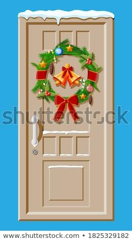 обрабатывать колокола Рождества икона иллюстрация образование Сток-фото © Anna_leni