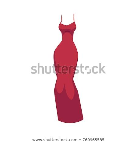 frau lange roten kleid isoliert wei schuhe. Black Bedroom Furniture Sets. Home Design Ideas