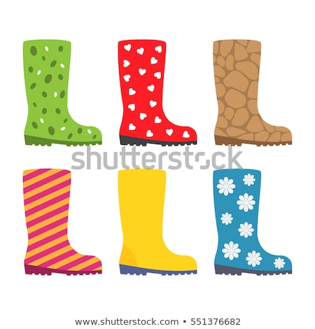 rubber knee boots for children stock photo © konturvid