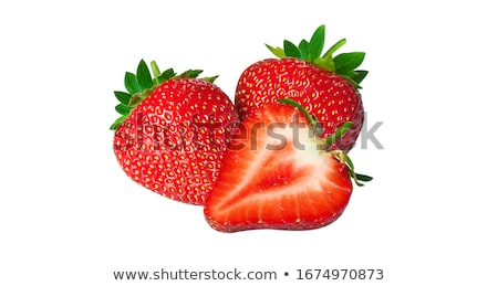 aardbei · geïsoleerd · witte · xxl · vruchten - stockfoto © masha