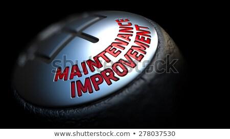 Karbantartás javulás fekete viselet piros szöveg Stock fotó © tashatuvango