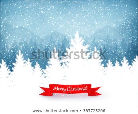 Vlaggen winter hemel groene Rood Geel Stockfoto © H2O