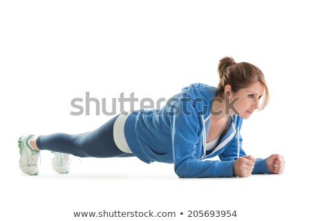 Young woman in basic plank posture Stock photo © wavebreak_media