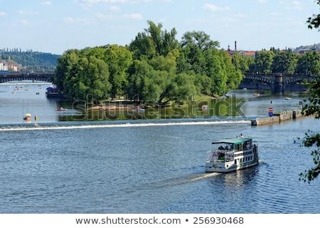 View from Legion Bridge on Strelecky Island, Prague. Stock photo © CaptureLight