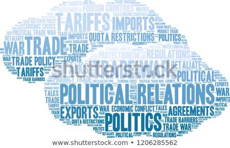 政治 雲 実例 雲 世界 グループ ストックフォト © fuzzbones0