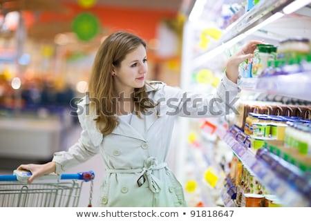 Mujer compras supermercado departamento frutas jóvenes Foto stock © vlad_star