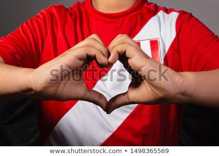 Liefde Peru teken geïsoleerd witte hart Stockfoto © MikhailMishchenko