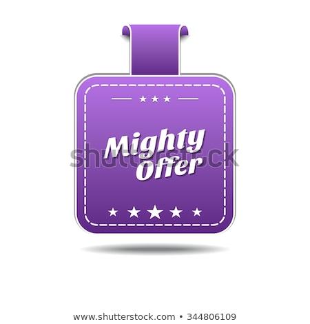 Potężny oferta fioletowy wektora ikona projektu Zdjęcia stock © rizwanali3d