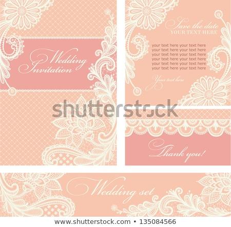 Vintage rose invitation de mariage dentelle décoration texture Photo stock © liliwhite