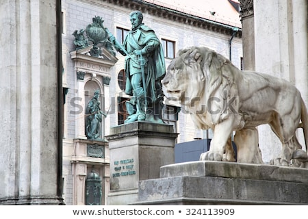 statue of graf v tilly at the odeonsplatz   feldherrnhalle in mu stock photo © vladacanon